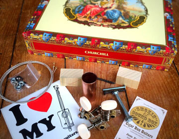La Aroma de Cuba The Original Cigar Box Guitar Kit