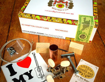 Macanudo box The Original Cigar Box Guitar Kit
