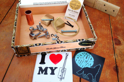 Cigar Box Guitar Kit with neck