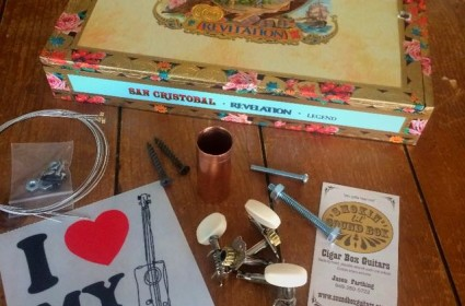 Cigar Box Guitar Kit including the neck