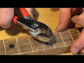 Cigar Box Guitar Kit - One Minute Tutorials, How to make branded fret markers